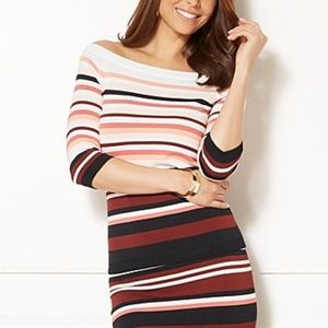 Women's NY Company Eva Mendes Striped Sweater L